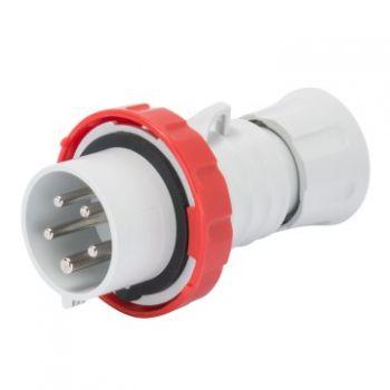 Fisa-stecher industrial Plug Hp Ip67 3P plus N plus E 16A 400V 6H Inver-Gewiss GW60031WH