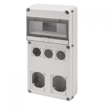 Tablou industrial Q-Din 10M 3S-O-50X50 2S-O-16-32A Ip65 Gewiss GW68027N