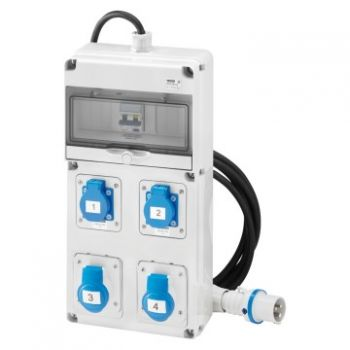 Tablou industrial Q-Din 10 Acs Iec 2X2P 2Xita 16A Mobile Gewiss GW68203N