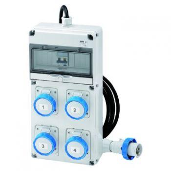Tablou industrial Q-Din 10 Acs Iec 2X2P 2X3P 16A Mobile Gewiss GW68204N
