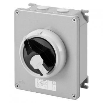 Intrerupator rotativ Isolator Hp Metal Box 32A 3P plus N Control Gewiss GW70405NM