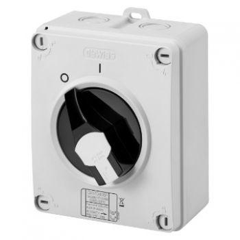 Intrerupator rotativ Isolator Hp Insul-Box 32A 3P plus N Control Gewiss GW70405NP