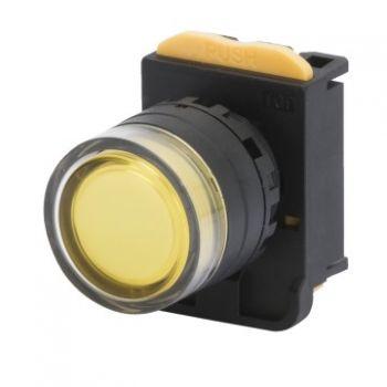 Buton selectoar Yellow Momentary Buton Cu Revenire Back-Guard Gewiss GW74345