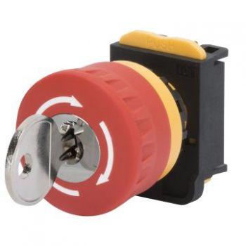 Buton selectoar Mushroom-Head Button D-40Mm HoldingplusKey Gewiss GW74362