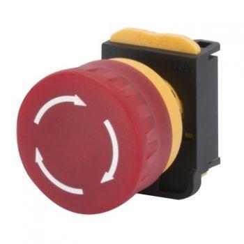 Buton selectoar Mushroom-Head Button D-40Mm HoldplusR-Gewiss GW74365