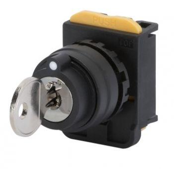 Buton selectoar Round Key Selector 1-0-2 Gewiss GW74412