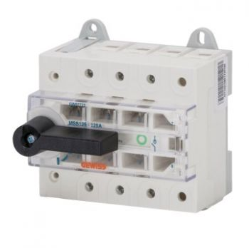 Separator Switch Disconnector Mss 125 3P 63A Gewiss GW97721