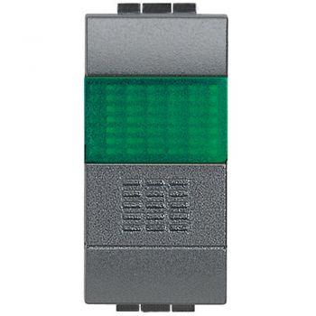 Bticino Living Light Buton 1p Cu Port lampa Verde L4038V
