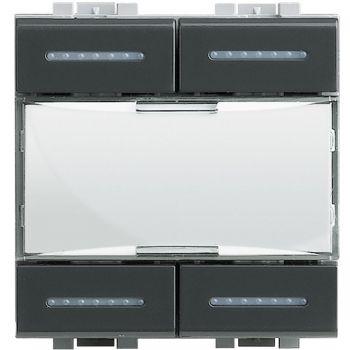 Bticino KNX KNX-LLight - cmd 4 ch con estetica-Antracite L4680KNX