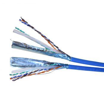 Cablu Audio Video Date Cablu 2X4Pr F-Utp 6 Albastru Lszh Solid 4P Tambur 500M Legrand 032776