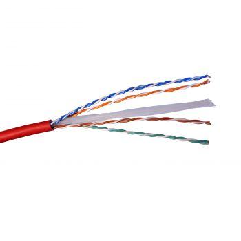 Cablu Audio Video Date Cablu U-Utp 6 Rosu Lszh Solid 4P Tambur 500M Legrand 032820