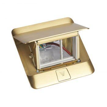 Doza Pardoseala Pop-Up Pop-Up Boxes Finisaj Bronz 3 Module Legrand 054015