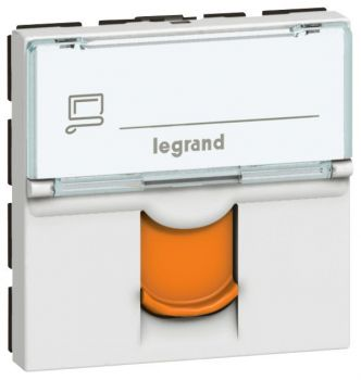Legrand Mosaic Rj45 Cat6A Stp Mosaic Orange Legrand 076525