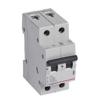 Siguranta Automata Rx3 Disjunctor 2P C25 4500A Monoconnect Legrand 419699