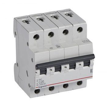 Siguranta Automata Rx3 Disjunctor 4P C20 4500A Monoconnect Legrand 419742