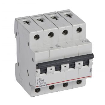 Siguranta Automata Rx3 Disjunctor 4P C25 4500A Monoconnect Legrand 419743