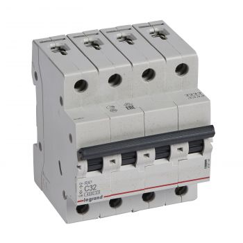 Siguranta Automata Rx3 Disjunctor 4P C32 4500A Monoconnect Legrand 419744