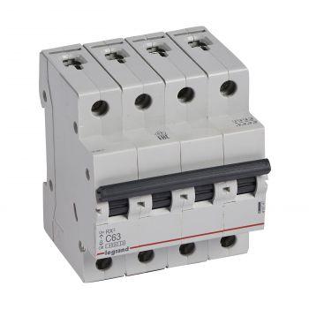 Siguranta Automata Rx3 Disjunctor 4P C63 4500A Monoconnect Legrand 419747
