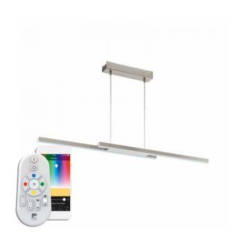 Lustra inteligenta EGLO FRAIOLI-C 97907 - LED RGB 2X17W 4600lm 2700-6500K - Aluminiu - Alb