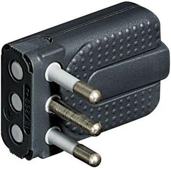 Bticino Stecher Priza Mobila-Mufa-Adaptor Kit - spina corner salvasp 2M T 10A grigio S2465TGE