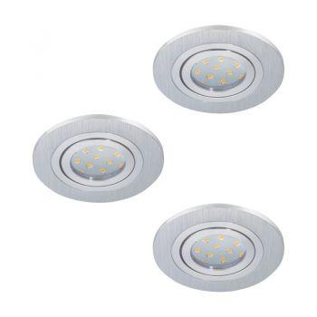 Spoturi iluminat Set 3Xeinbauspot D100 Alu-Geb-'Areitio' Eglo 98639