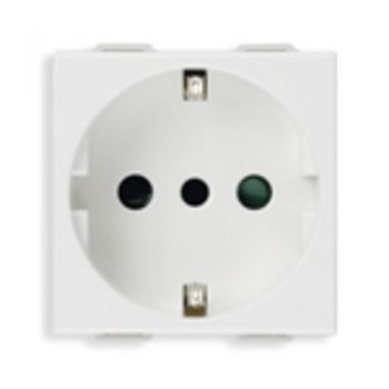 Priza 2P-plus-E 16A P30 outlet white vimar Neve 09209